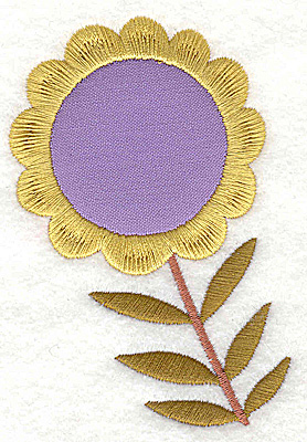 Embroidery Design: Flower 1 applique large 2.65w X 3.86h