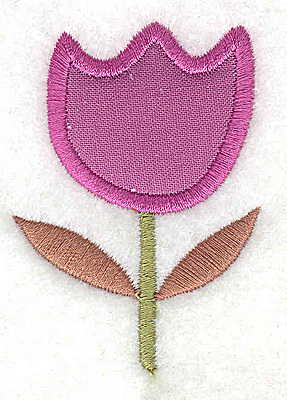 Embroidery Design: Flower 3 tulip applique small 1.89w X 2.63h