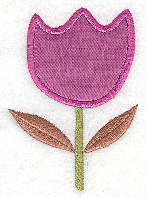 Embroidery Design: Flower 3 tulip applique large 2.80w X 3.89h