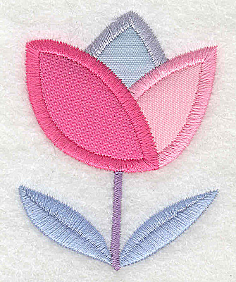 Embroidery Design: Flower 4 tulip applique small 2.13w X 2.77h
