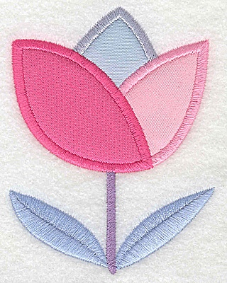 Embroidery Design: Flower 4 tulip applique large 2.97w X 3.88h