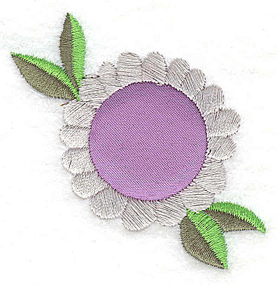 Embroidery Design: Flower 5 applique small 2.50w X 2.38h