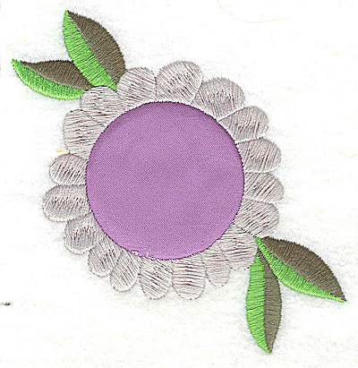 Embroidery Design: Flower 5 applique large 3.88w X 3.71h