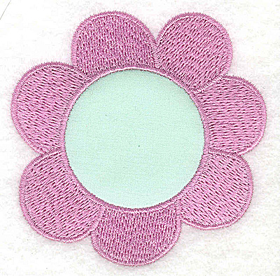Embroidery Design: Flower bloom applique 2.96w X 2.96h