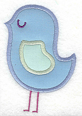 Embroidery Design: Bird with double applique   2.67w X 2.89h