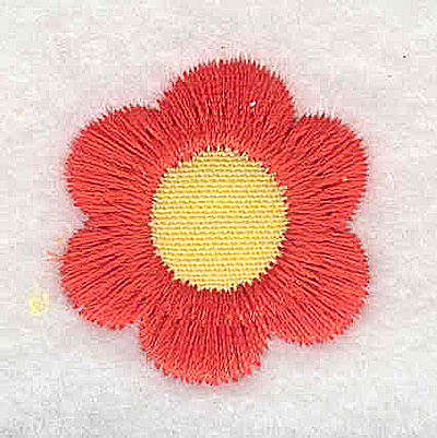 Embroidery Design: Floral bloom applique mini 1.01w X 1.08h