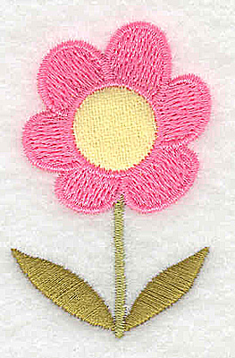 Embroidery Design: Flower 7 applique 1.57w X 2.42h