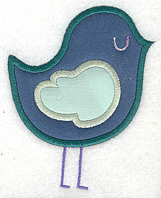 Embroidery Design: Bird double applique large 3.07w X 3.86h
