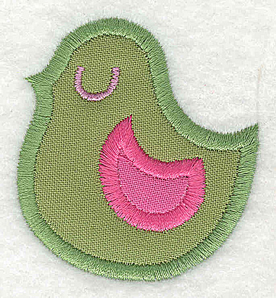 Embroidery Design: Bird double applique small  2.00w X 2.19h