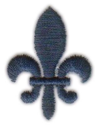 "Embroidery Design: La Fleur de Lyse1.06"" x 1.39"""