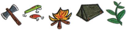"Embroidery Design: Camp Border8.04"" x 1.8"""