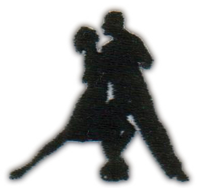 "Embroidery Design: Dancing Couple1.80"" x 1.68"""