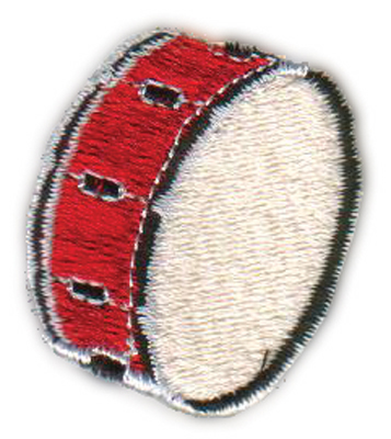 "Embroidery Design: Drum1.43"" x 1.60"""