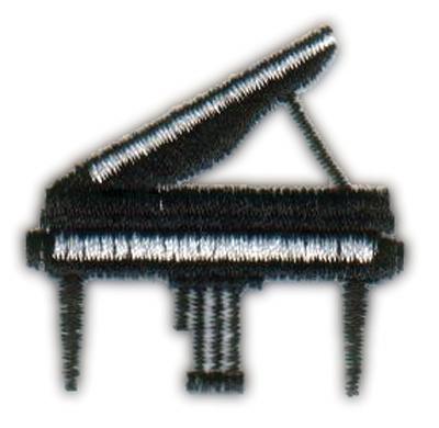 """Embroidery Design: Piano1.61"""" x 1.63"""""""