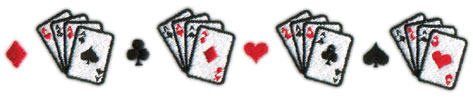 """Embroidery Design: Cards Border8.01"""" x 1.32"""""""