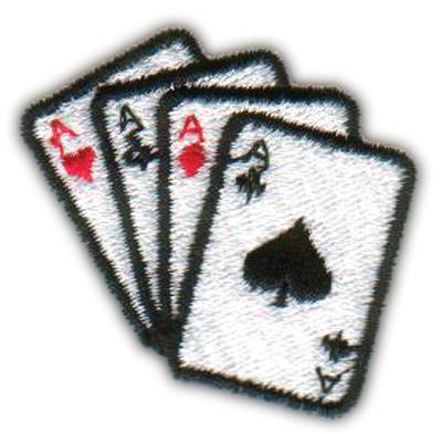 "Embroidery Design: Four Aces Spade1.69"" x 1.65"""