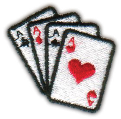 """Embroidery Design: Four Aces Hearts1.69"""" x 1.65"""""""