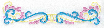 Embroidery Design: Double swirl small 6.92w X 1.67h