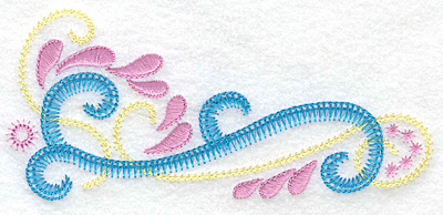 Embroidery Design: Double swirl A 5.53w X 2.48h