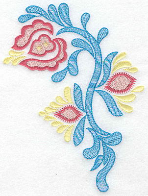 Embroidery Design: Triple Bloom large A 5.00w X 6.87h