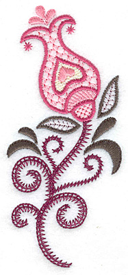 Embroidery Design: Trumpet Flower A 2.18w X 4.96h