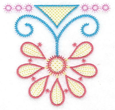 Embroidery Design: Hanging flower 3.87w X 3.75h