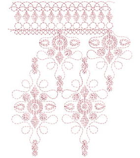 Embroidery Design: Heirloom From The Vault 2 Design 8 7.83w X 9.81h