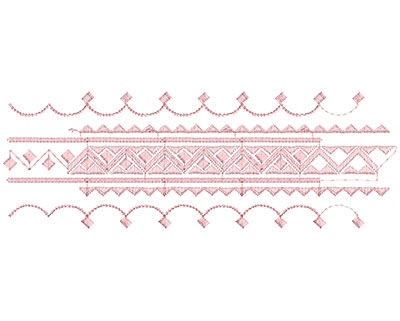 Embroidery Design: Heirloom From The Vault 2 Design 11 3.78w X 10.9h