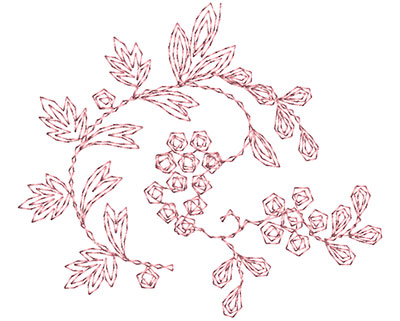 Embroidery Design: Heirloom From The Vault 3 Design 1 2.92w X 3.37h