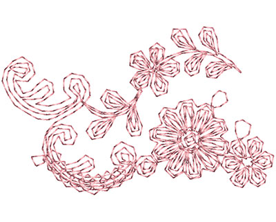 Embroidery Design: Heirloom From The Vault 3 Design 6 1.58w X 2.56h