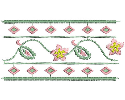 Embroidery Design: Heirloom From The Vault 4 Design 3 2.37w X 4.75h