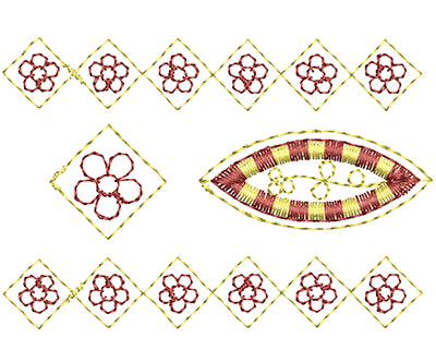 Embroidery Design: Heirloom From The Vault 4 Design 5 2.24w X 3.30h