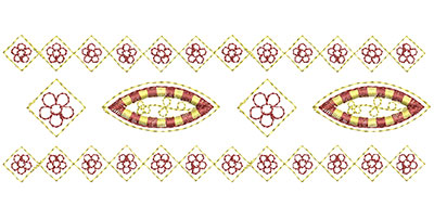 Embroidery Design: Heirloom From The Vault 4 Design 6 2.24w X 6.51h