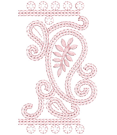 Embroidery Design: Heirloom From The Vault 4 Design 9 6.90w X 4.13h