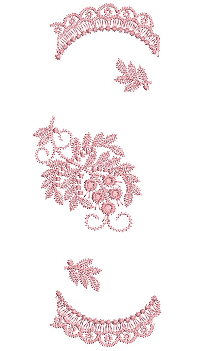 Embroidery Design: Heirloom From The Vault 5 Design 2 7.34w X 2.74h