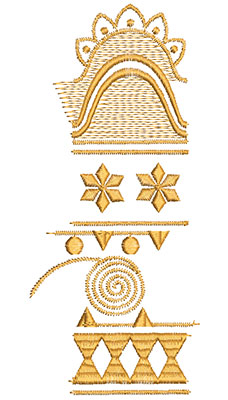 Embroidery Design: Heirloom From The Vault 6 Design 2 7.48w X 3.25h