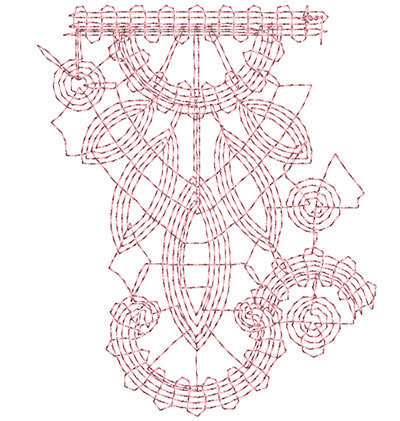Embroidery Design: Heirloom From The Vault 6 Design 6 3.74w X 3.08h