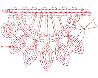 Embroidery Design: Heirloom From The Vault 7 Design 2 1.84w X 2.74h
