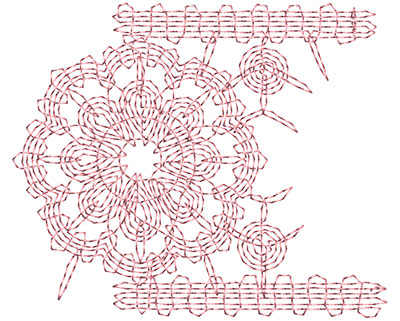 Embroidery Design: Heirloom From The Vault 7 Design 4 2.73w X 3.24h