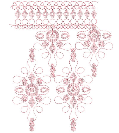 Embroidery Design: Heirloom From The Vault 9 Design 4 7.80w X 9.76h
