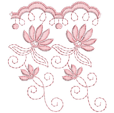 Embroidery Design: Heirloom From The Vault 9 Design 10 4.15w X 3.69h