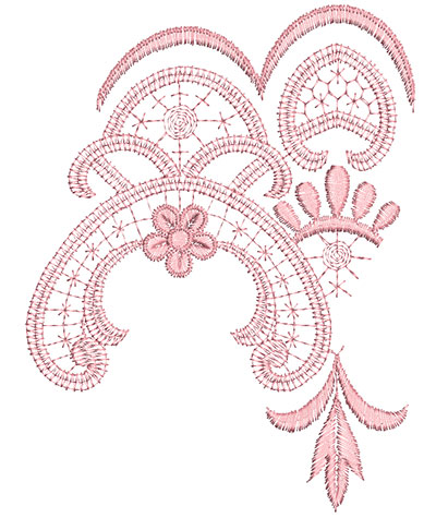 Embroidery Design: Heirloom From The Vault 11 Design 1 6.92w X 5.31""