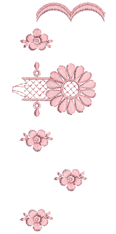 Embroidery Design: Heirloom From The Vault 12 Design 5 7.22w X 2.95h