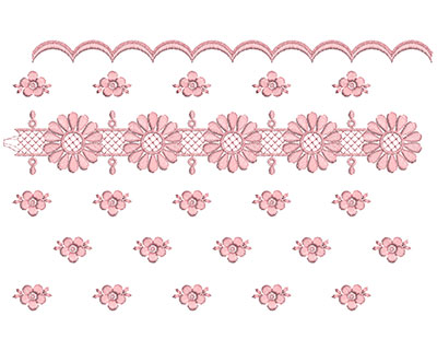 Embroidery Design: Heirloom From The Vault 12 Design 6 7.22w X 11.46h