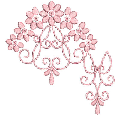 Embroidery Design: Heirloom From The Vault 13 Design 4 5.28w X 5.08h