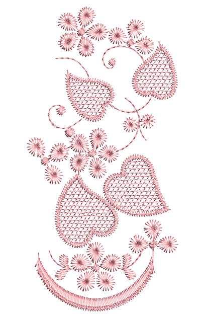 Embroidery Design: Heirloom From The Vault 13 Design 6 5.64w X 2.80h