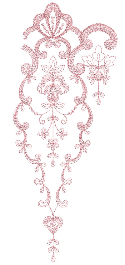 Embroidery Design: Heirloom From The Vault 14 Design 1 4.72w X 11.73h