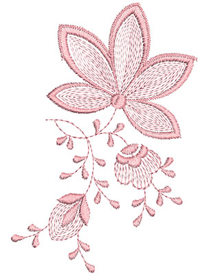 Embroidery Design: Heirloom From The Vault 15 Design 2 6.55w X 4.53h