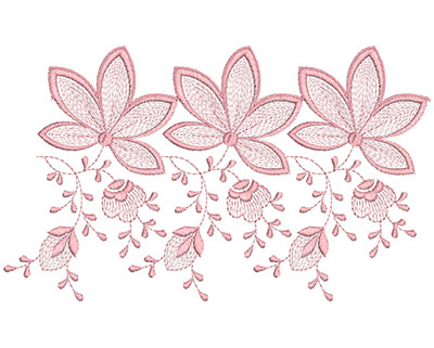 Embroidery Design: Heirloom From The Vault 15 Design 3 6.55w X 10.92h