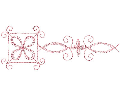 Embroidery Design: Heirloom From The Vault 15 Design 10 1.71w X 4.54h